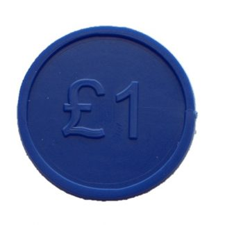 25mm Blue Currency £1 Tokens Product Image