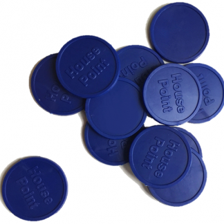 25mm Blue Embossed House Point Tokens