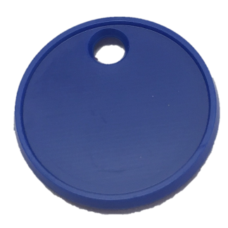 22mm-Blue-Trolley-Token