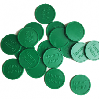 25mm Green Embossed House Point Tokens