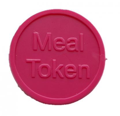 25mm Pink Embossed Meal Tokens