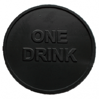 35mm Black Embossed ONE DRINK Tokens