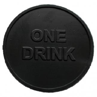 35mm Black Embossed ONE DRINK Tokens