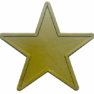 48mm Gold Star Shaped Tokens