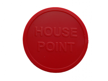 48mm Red Embossed House Point Token