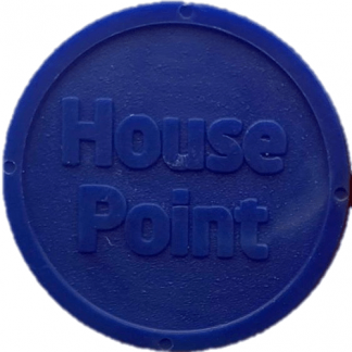 25mm Blue Eco House Point Token
