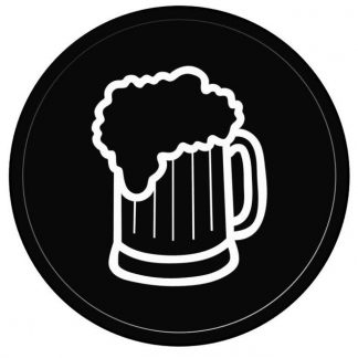 25mm Black One Side One Colour Print Beer Tokens